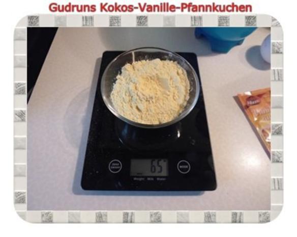 Kuchen: Kokos-Vanille-Pfannkuchen mit Honig und Erdbeermarmelade - Rezept - Bild Nr. 4
