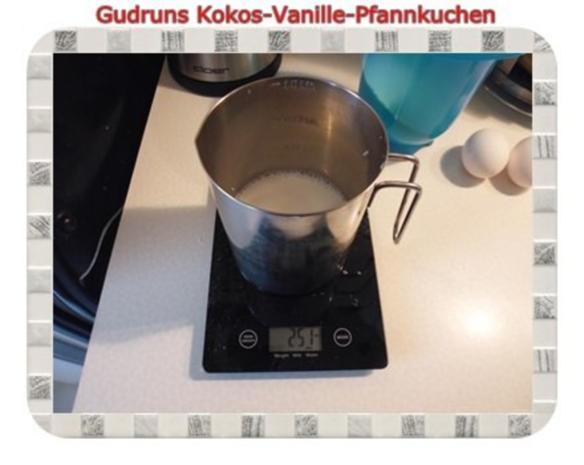 Kuchen: Kokos-Vanille-Pfannkuchen mit Honig und Erdbeermarmelade - Rezept - Bild Nr. 5