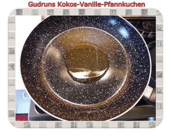 Kuchen: Kokos-Vanille-Pfannkuchen mit Honig und Erdbeermarmelade - Rezept - Bild Nr. 7