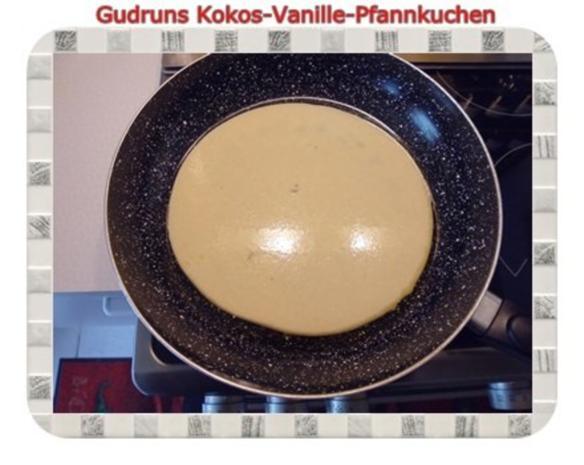 Kuchen: Kokos-Vanille-Pfannkuchen mit Honig und Erdbeermarmelade - Rezept - Bild Nr. 8