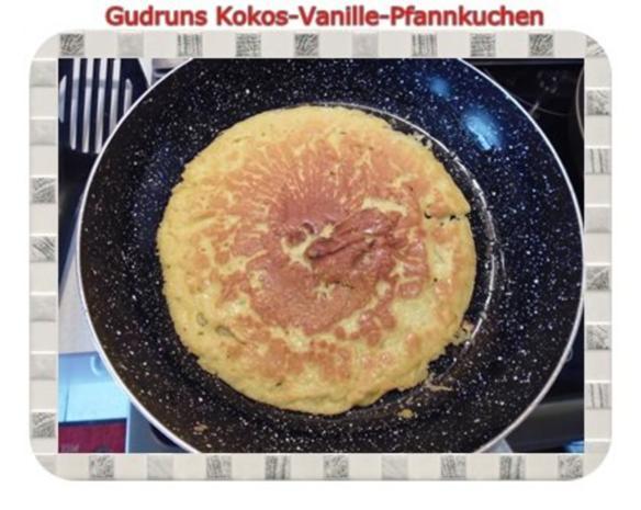 Kuchen: Kokos-Vanille-Pfannkuchen mit Honig und Erdbeermarmelade - Rezept - Bild Nr. 10