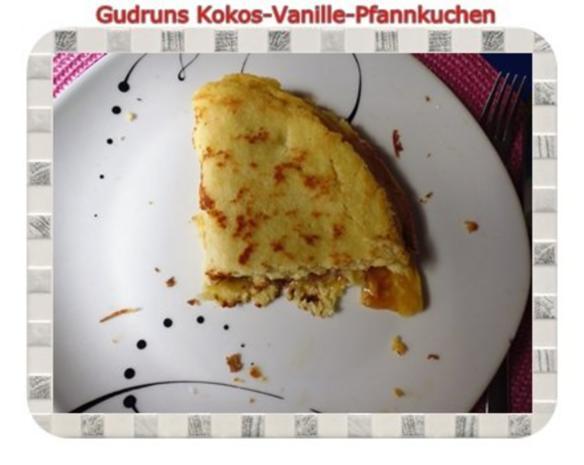 Kuchen: Kokos-Vanille-Pfannkuchen mit Honig und Erdbeermarmelade - Rezept - Bild Nr. 12