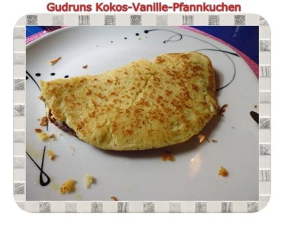 Kuchen: Kokos-Vanille-Pfannkuchen mit Honig und Erdbeermarmelade - Rezept - Bild Nr. 14