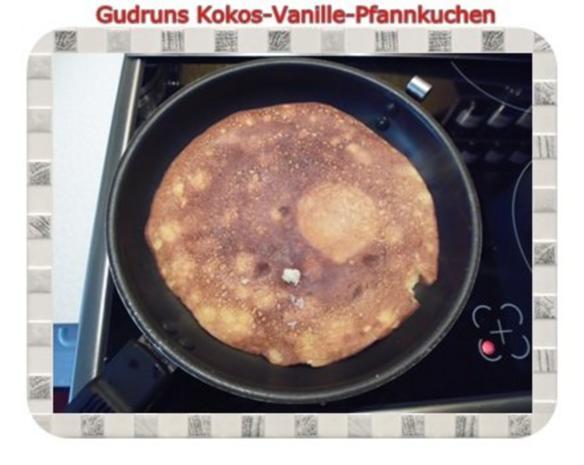 Kuchen: Kokos-Vanille-Pfannkuchen mit Honig und Erdbeermarmelade - Rezept - Bild Nr. 17