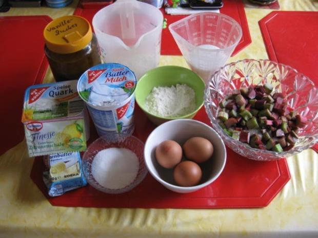 Buttermilch - Käsekuchen mit Rhabarber - Rezept - Bild Nr. 2