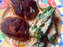 Falafel Bouletten mit Bratpaprika  in Tomatensoße - Rezept - Bild Nr. 2