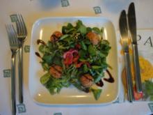 Salami Pralinen im Feldsalat Bett - Rezept