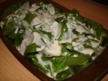 Spinatsalat mit Joghurt - Yogurtlu ispinak salatasi - Rezept