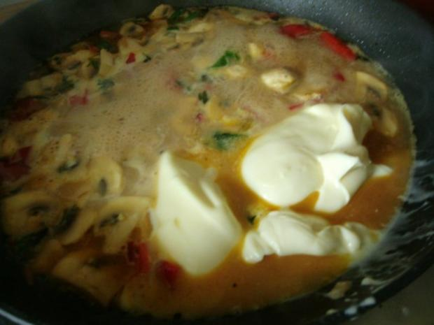 Hähnchen in Curry - Käsesauce - Rezept - Bild Nr. 7