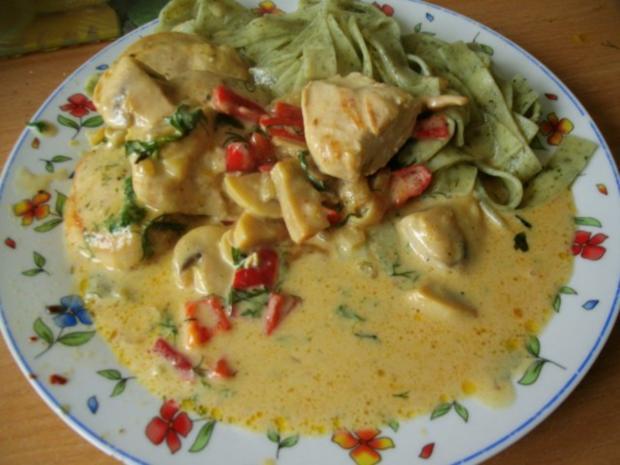 Hähnchen in Curry - Käsesauce - Rezept - Bild Nr. 10