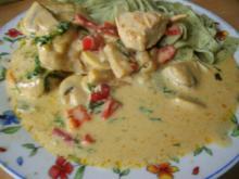 Hähnchen in Curry - Käsesauce - Rezept