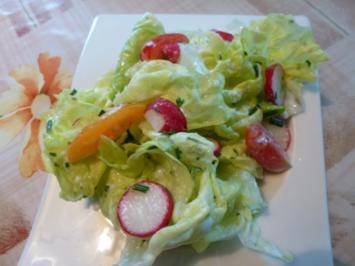 Ein frischer Gartensalat - Rezept