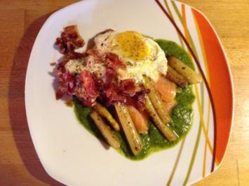 Rezept: Räucherlachs mit Spargel und Ei