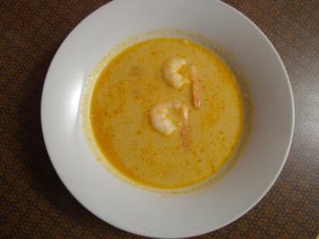 Gemüse-Kokossuppe mit Lachs - Rezept