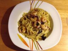 Würzig-scharfe Garnelen mit Pasta - Rezept