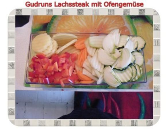 Fisch: Lachssteak mit Ofengemüse - Rezept - Bild Nr. 2