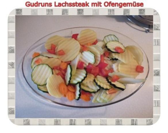 Fisch: Lachssteak mit Ofengemüse - Rezept - Bild Nr. 3