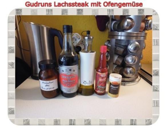 Fisch: Lachssteak mit Ofengemüse - Rezept - Bild Nr. 4