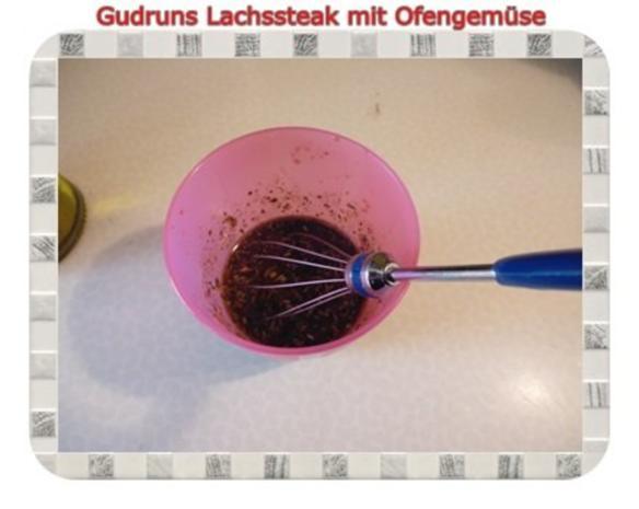 Fisch: Lachssteak mit Ofengemüse - Rezept - Bild Nr. 5