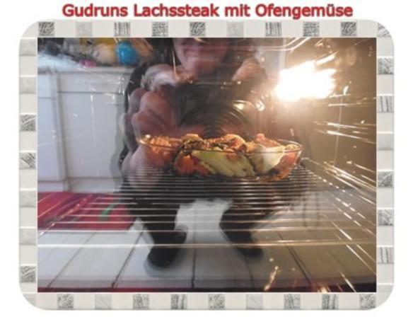 Fisch: Lachssteak mit Ofengemüse - Rezept - Bild Nr. 7