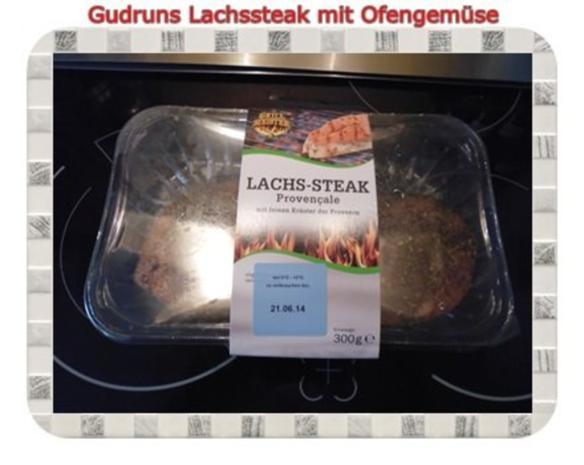 Fisch: Lachssteak mit Ofengemüse - Rezept - Bild Nr. 8