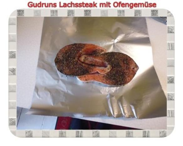 Fisch: Lachssteak mit Ofengemüse - Rezept - Bild Nr. 9