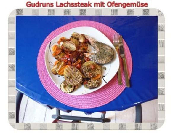 Fisch: Lachssteak mit Ofengemüse - Rezept - Bild Nr. 16
