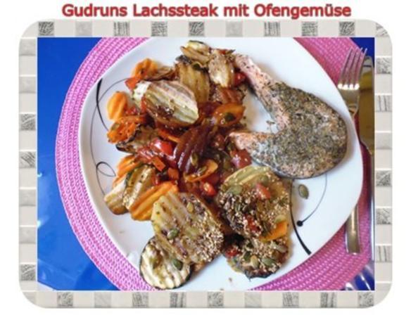 Fisch: Lachssteak mit Ofengemüse - Rezept - Bild Nr. 17