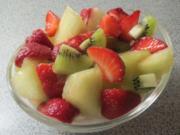 Dessert: Kokoscreme mit Obstsalat - Rezept