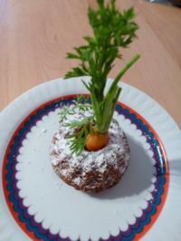 Nussküchlein mit jungen Gartenmöhren. - Rezept