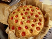 Tomaten-Focaccia; mediterranes Brot - Rezept