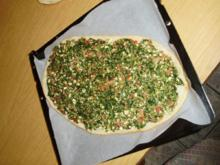 Pide mit Spinat-Hack-Käse-Füllung - Rezept