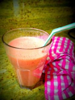 Getränk: Erdbeer-Bananen-Shake - Rezept