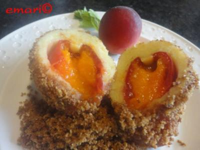 Wachauer Marillen / Aprikosen Knödel (Kartoffelteig) - Rezept