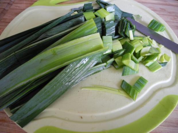 Vegan : Seitan - Pfanne mit Dreierlei-Beilage - Rezept - Bild Nr. 4