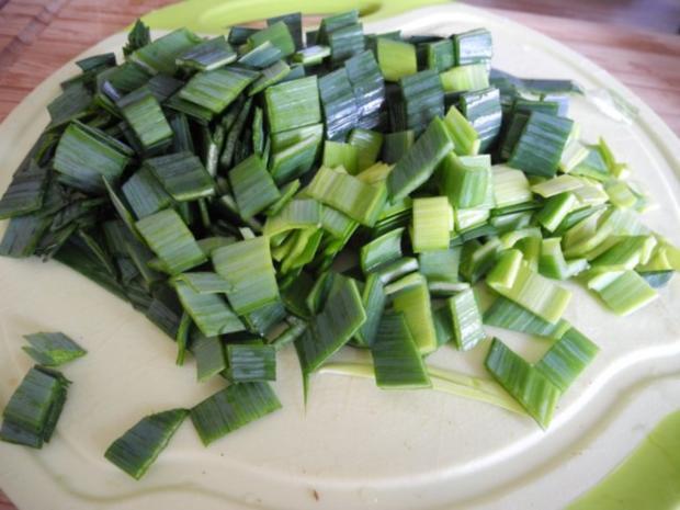 Vegan : Seitan - Pfanne mit Dreierlei-Beilage - Rezept - Bild Nr. 6
