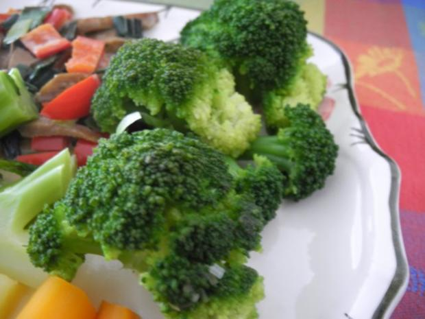Vegan : Seitan - Pfanne mit Dreierlei-Beilage - Rezept - Bild Nr. 19