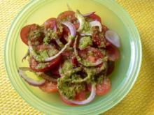 Tomatensalat mit Orangen Ingwer Dressing - Rezept