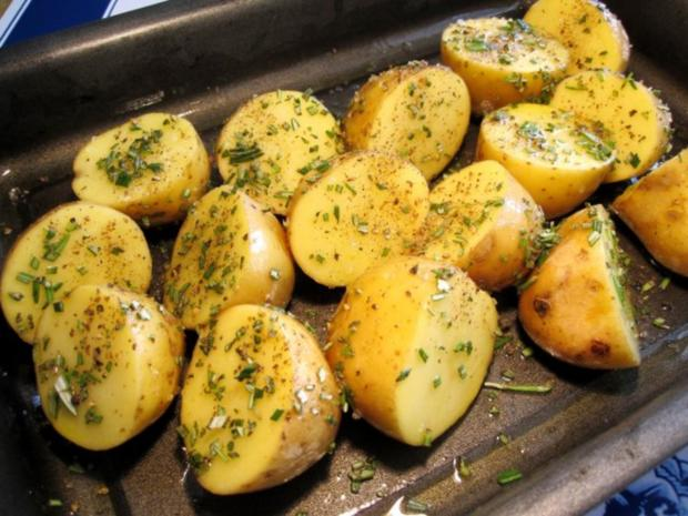 Rosmarinkartoffeln mit Grillfackeln - Rezept - Bild Nr. 5