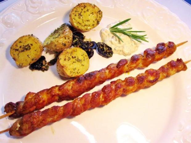 Rosmarinkartoffeln mit Grillfackeln - Rezept