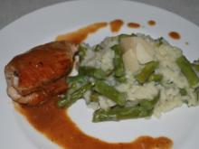 Hähnchen-Saltimbocca mit Spargel-Risotto - Rezept