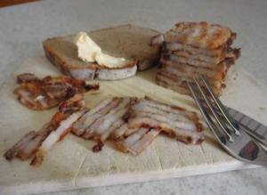 Schweinebauch geschichtet - Rezept