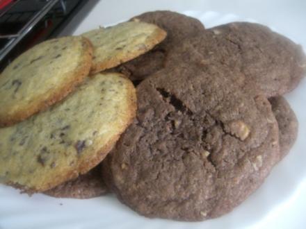 American Cookies hell und dunkel - Rezept