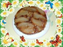Kuchen : Birnentarte umgedreht in klein - Rezept