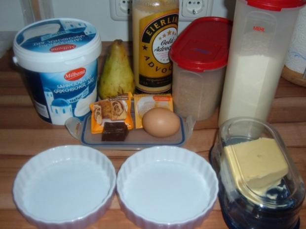 Kuchen : Birnentarte umgedreht in klein - Rezept - Bild Nr. 3