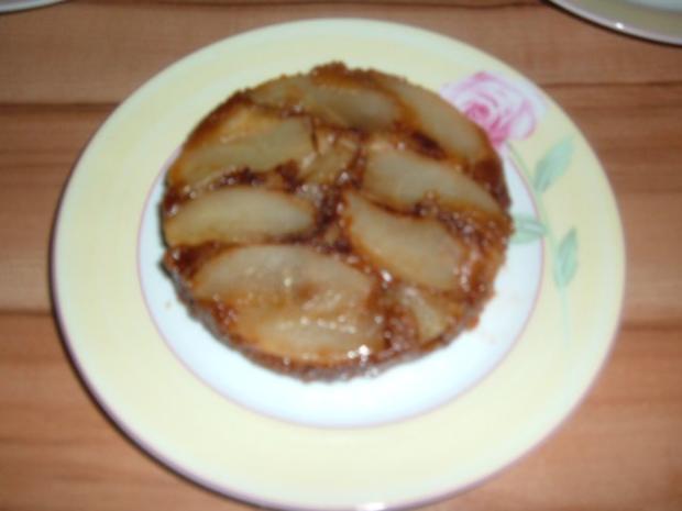 Kuchen : Birnentarte umgedreht in klein - Rezept - Bild Nr. 2