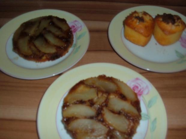 Kuchen : Birnentarte umgedreht in klein - Rezept - Bild Nr. 8