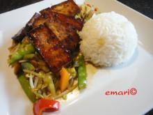Wokgemüse mit mariniertem Chili-Tofu - Rezept