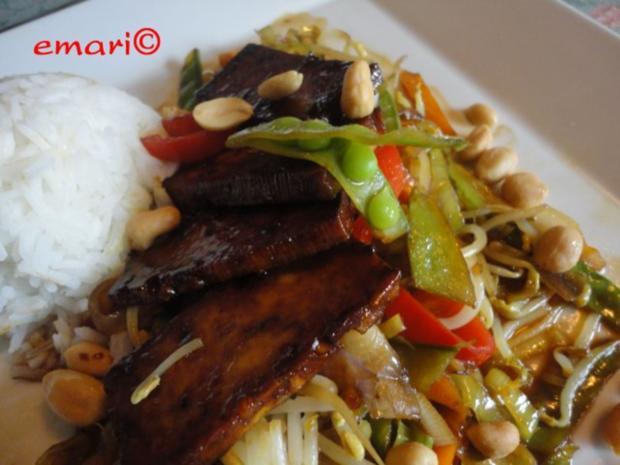 Wokgemüse mit mariniertem Chili-Tofu - Rezept - Bild Nr. 2