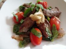 Bohnen-Tomatenpfanne mit Lammfilets - Rezept